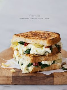 Spinach and Artichoke Grilled Cheese and Grilled Cheese Academy's Recipe Showdown | foodiecrush