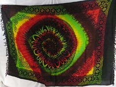 heppy accessories rasta tie dye sarong $4.95 - http://www.wholesalesarong.com/blog/heppy-accessories-rasta-tie-dye-sarong-4-95/