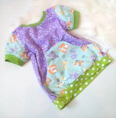 Pfaff, Kind Mode, Baby, Rompers, Dresses, Fashion, Cute Fox, Purple Flowers, Cotton Fabric