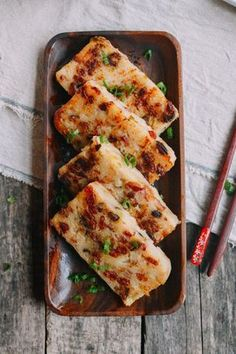 Turnip Cake (Lo Bak Go) - serve with X.O. Sauce for the authentic dim sum experience