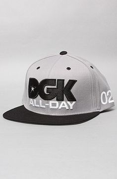 best loved 5fc8b e8cc3 The All Day Sport Snapback Cap in Grey  amp  Black by DGK 20% off