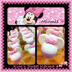 minnie mouse pink & white