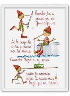 www. Spanish Teacher, Spanish Classroom, Teaching Spanish, Toungue Twisters, English Poems For Kids, Pre Writing, Teacher Hacks, Nursery Rhymes, Spanish Language