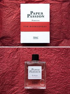 Paper Passion Perfume - For Booklovers // A perfume that smells like books! Swoon!