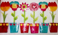Large Flowers Girls Room Decor Indoor Outdoor Decor Suncatchers Lot Of 6 Acrylic