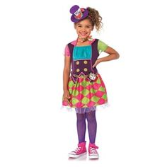 Such a fun costume! Mad Hatter Embroidered Clock Girls Costume #officialprincesscostumes