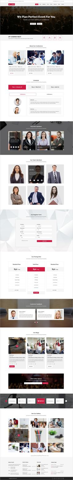 Voice is an awesome design #PSD template for #startups #event and conference website download now➩ https://themeforest.net/item/voice-event-psd-template/19117069?ref=Datasata