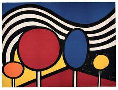 Alexander Calder 'Trees and Mountains' 1976 Alexander Calder, Kinetic Art, Abstract Wall Art, Art Plastique, Oeuvre D'art, Art Lessons, Modern Art, Art Projects, Pop Art