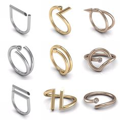 New Abstract Collection launched for sales on Etsy in November 2015! Choose and order your favorite abstract jewelry in solid gold with diamond
