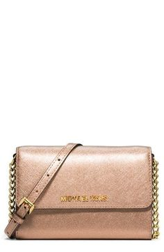 c87a00887f57 MICHAEL Michael Kors 'Jet Set Travel' Saffiano Leather Crossbody Bag  available at #Nordstrom