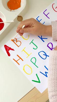 Q-tip Alphabet Tracing