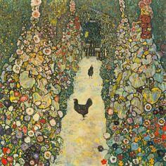 Gustav Klimt, Art Klimt, Chicken Art, Oil Painting Reproductions, Art Moderne, Tile Art, Garden Paths, Wood Print, Diy Painting