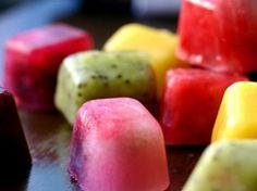 Cubitos de fruta en Decoracion y detalles para las fiestas de bebés, niños y niñas