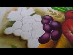 Pintura em tecido uvas Nº 1 -Graça Tristão- Nível iniciante igual ao meu - YouTube