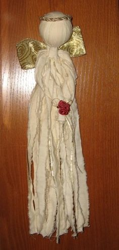 fabric angel crafts...i remember making these as a child