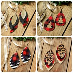 Women's Jewelry and Accessories. Women's Jewelry Plaid Leopard Sequined Leaf Multi-Layered Leather Earrings – Christmas Crafts Holiday Party Outfits. Diy Leather Earrings, Diy Earrings, Leather Jewelry, Leather Craft, Diamond Earrings, Opal Necklace, Emerald Diamond, Diamond Jewelry, Wedding Jewelry And Accessories