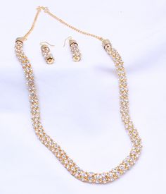 Exquisite Multistrand Pearl Necklace with White stones | Necklace ...