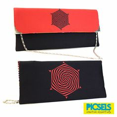 Psychedelic Flower clutch: Red & Black. For details and orders please email us at picselsce@gmail.com