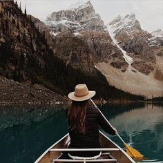 sanborncanoecompany:  Moraine Lake perfection. #ScoutForth folks. Photo by @ashleelangholz | #sanborncanoe #canoeview.