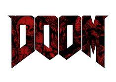 Doom (red Version) Graphic Hoodie by Sinpiggyhead - Unisex Pullover Black - MEDIUM - Front Print - Pullover Typography Art, Lettering, Doom Game, Gamer T Shirt, Big Photo, Geek Out, Iphone Skins, Jojo's Bizarre Adventure, Framed Art Prints