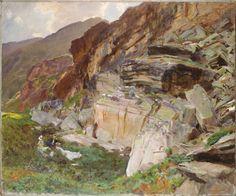 John Singer Sargent, In The Simplon Valley, 1909