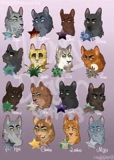 Soooo, some of you have been waiting a loooooong time for this but its finally here! I've finally drawn the leaders of Riverclan, the style is a bit different from the older ones because, well, it ...