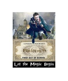 Harry Potter First Day of School Sign, Hogwarts Ticket Sign, Harry Potter Sign, Harry Potter Poster, Harry Potter Image by ICreateAndCollect on Etsy
