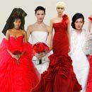 Red Wedding Dresses, Vera Wang, Oscar De La Renta, Romona Keveza, Red Details