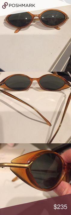 5bb216dd3e5 Kata Cat eye sunglasses Kata Brown cat eye sunglasses with gold trim Never  worn kata Accessories