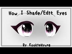 How I Shade Edit Eyes In Gacha Life 2 Kookiehyung Youtube