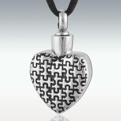HEART PUZZLE STAINLESS STEEL CREMATION URN NECKLACE    http://www.ebay.com/itm/200854499538?ssPageName=STRK:MESELX:IT&_trksid=p3984.m1586.l2649