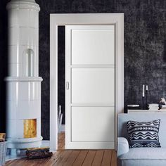 All pocket cassettes may be kerbside delivery only and not in to the home. doors are delivered separately. All doors can slide open left or right, you decide when installing them, delivery will be from two separate suppliers. Pocket Door Frame, Pocket Doors, The Doors, Panel Doors, Door Fittings, Flush Doors, Architrave, Wall Spaces, Industrial Style