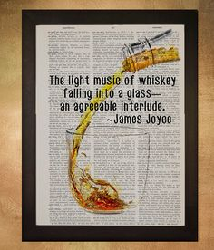 Literary Quote Print | 21 Amazing Gifts For All Whiskey Lovers