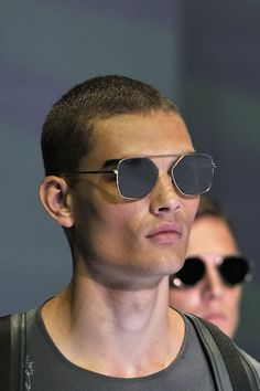 fabd3702c5cb A closer look at the Emporio Armani Men s Spring Summer 2017 fashion show  Sunglasses 2017