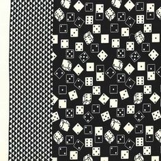 Michael Miller House Designer - Get Your Game On - Roll the Dice in Black