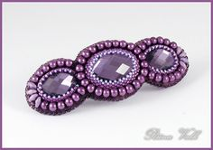 Bead Embroideried Hair Barrette
