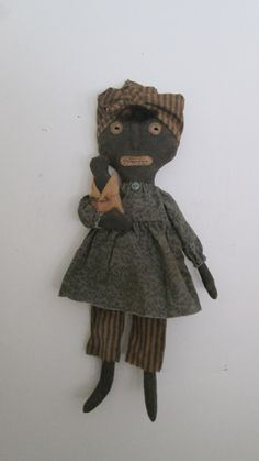 Primitive Mammy Doll with Baby by Bettesbabies on Etsy, $39.00