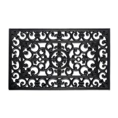 DII Black Rectangular Indoor/Outdoor Door Mat (Common: x Actual: x at Lowe's. Classical wrought iron design inspired from French grills. This elegant doormat offers a decorative look with unique features. Made from black rubber, it Outdoor Doors, Indoor Outdoor, Rubber Material, Pvc Material, Recycled Rubber, Home Decor Shops, Exterior Doors, Floor Mats, Wrought Iron