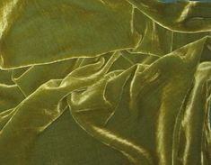 YELLOW GREEN Silk Velvet Fabric 1 yard by silkfabric on Etsy