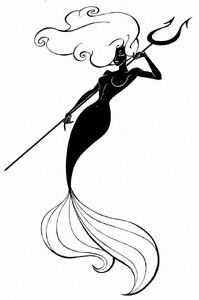 2456538 Mermaid with trident by empyrean on DeviantArt