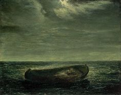 "lyghtmylife: "" Albert Pinkham Ryder [American Tonalist Painter, Constance 1896 Oil on canvas 28 x 36 in. x cm) Museum of Fine Arts, Boston, USA "" Oil Painting Pictures, Painting Gallery, Nocturne, Kunsthistorisches Museum, Moonlight Painting, Painted Picture Frames, Museum Of Fine Arts, Landscape Paintings, Landscapes"