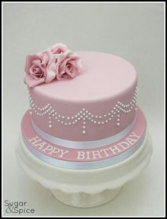 Pastel Redondo Birthday Cake For Women Simple 70th Pretty