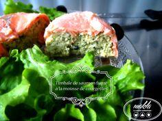 Timbale de saumon fumé à la mousse de courgettes