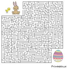 Small maze: Help the animals find their easter egg Mazes For Kids Printable, Printable Coloring Pages, Calming Activities, Easter Activities, Bunny Crafts, Easter Crafts For Kids, Easter Party Games, Easter Worksheets, Scrapbook Box
