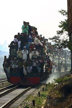 Train Ride, Biswa Ijtema Dhaka BANGLADESH.
