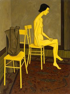 This painting is part of a series of nudes by John Brack that were first exhibited in Melbourne in Contrary to the traditions of Western art, this work presents the nude as sexless and alienated from the viewer. Woman Painting, Figure Painting, Painting & Drawing, Australian Painters, Australian Artists, New Zealand Art, 2d Art, Aboriginal Art, Western Art