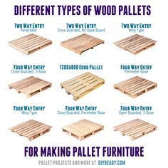 To Know If A Pallet Is Safe To Use Different types of wood pallets for making pallet furniture.Different types of wood pallets for making pallet furniture. Making Pallet Furniture, Wooden Pallet Furniture, Wooden Pallets, 1001 Pallets, Furniture Ideas, Refurbished Furniture, Furniture Layout, Furniture Design, Outdoor Furniture