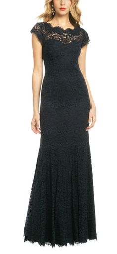 Monique Lhuillier - lengthy black dress
