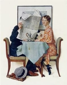 """""""Which Is More Important?"""", Norman Rockwell.. Norman Rockwell Art, Norman Rockwell Paintings, Vintage Art Prints, Vintage Posters, Famous Artists, American Artists, Oeuvre D'art, Modern Art, Illustration Art"""