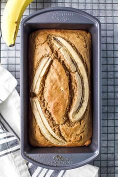 The Most Amazing Easy Moist Banana Bread Recipe. Skinny Banana Bread Recipe Tastes Better From Scratch. Moist Banana Bread With Raisins Panlasang Pinoy. Home and Family Best Healthy Banana Bread Recipe, Healthy Bread Recipes, Banana Bread Recipes, Healthy Eats, Thm Recipes, Healthy Breakfasts, Brunch Recipes, Baking Recipes, Sweet Recipes
